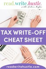 tax writeoff cheat sheet